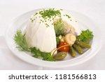 Stock photo slices of herring herring paste forshmak 1181566813