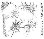 spiderweb vector illustration | Shutterstock .eps vector #1181567359