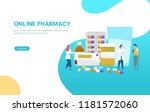 pharmacist give advice and... | Shutterstock .eps vector #1181572060