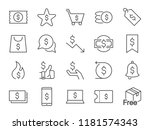 discount icon set. included... | Shutterstock .eps vector #1181574343