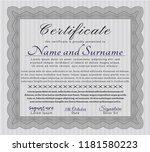 grey classic certificate... | Shutterstock .eps vector #1181580223