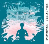 poster for ayurveda and yoga... | Shutterstock .eps vector #1181587486