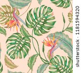 Floral Seamless Vector Tropical ...
