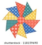 patchwork abstract flower 2.... | Shutterstock . vector #118159690