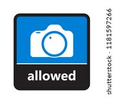 camera sign with label for... | Shutterstock .eps vector #1181597266