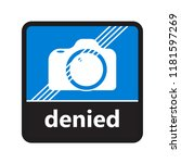 no camera sign with label for... | Shutterstock .eps vector #1181597269