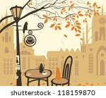 landscape of the old town with... | Shutterstock .eps vector #118159870