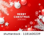 christmas composition with fir...   Shutterstock .eps vector #1181600239