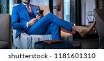 man in expensive custom... | Shutterstock . vector #1181601310