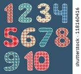 numbers set. patchwork series.... | Shutterstock . vector #118160416