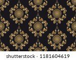 seamless wallpaper pattern with ... | Shutterstock .eps vector #1181604619