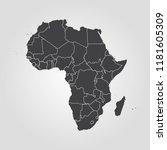 map of africa   Shutterstock .eps vector #1181605309