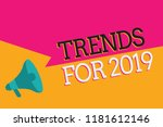 text sign showing trends for... | Shutterstock . vector #1181612146
