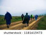 people go forward in mountain... | Shutterstock . vector #1181615473