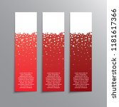 vertical winter red banner.... | Shutterstock .eps vector #1181617366