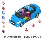 design concept driving school... | Shutterstock .eps vector #1181619736
