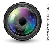 illustration of camera lens... | Shutterstock . vector #118162333