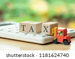 pay annual income  tax  for the ...   Shutterstock . vector #1181624740