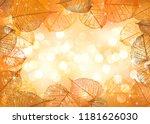 festive background and frame of ... | Shutterstock .eps vector #1181626030