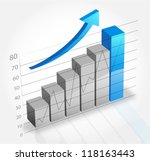 business graph and chart | Shutterstock .eps vector #118163443