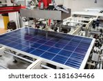 manufacturing of solar panel... | Shutterstock . vector #1181634466