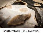 an arrowhead made from... | Shutterstock . vector #1181636923