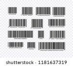bar code set vector. universal... | Shutterstock .eps vector #1181637319