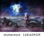 concept of the future of space... | Shutterstock . vector #1181639329