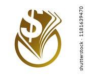 abstract dollar or money... | Shutterstock .eps vector #1181639470