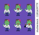 zombie character in various... | Shutterstock .eps vector #1181639779
