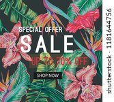 sale banner  poster with... | Shutterstock .eps vector #1181644756