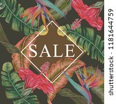 sale banner  poster with... | Shutterstock .eps vector #1181644759