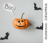 happy halloween. funny... | Shutterstock . vector #1181649616