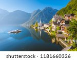 classic postcard view of famous ... | Shutterstock . vector #1181660326