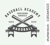 vintage baseball sport logo ... | Shutterstock .eps vector #1181664223