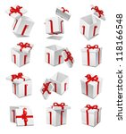vector gift box set | Shutterstock .eps vector #118166548