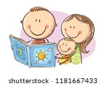 cartoon mother  father and son...   Shutterstock .eps vector #1181667433