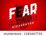 trembling font design ... | Shutterstock .eps vector #1181667733