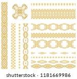 set of vector golden decorative ... | Shutterstock .eps vector #1181669986