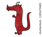 cartoon doodle dragon | Shutterstock . vector #1181672683