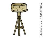 cartoon doodle breakfast stool | Shutterstock . vector #1181673856