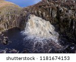 waterfall and pool through a... | Shutterstock . vector #1181674153