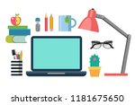 illustration of flat style... | Shutterstock .eps vector #1181675650