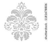 damask graphic ornament. floral ... | Shutterstock .eps vector #1181678806