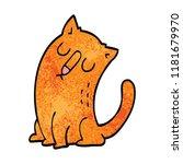 cartoon doodle funny cat | Shutterstock . vector #1181679970