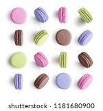 set of colorful french macarons ... | Shutterstock . vector #1181680900