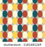 seamless patter made of retro... | Shutterstock .eps vector #1181681269