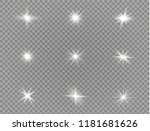 white glowing light explodes on ... | Shutterstock .eps vector #1181681626