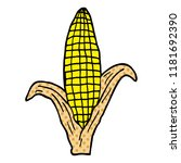 cartoon doodle corn on cob | Shutterstock . vector #1181692390