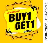 sale banner modern yellow.buy 1 ... | Shutterstock .eps vector #1181694340